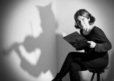 Photo for children's author Debi Gliori using light and shadow