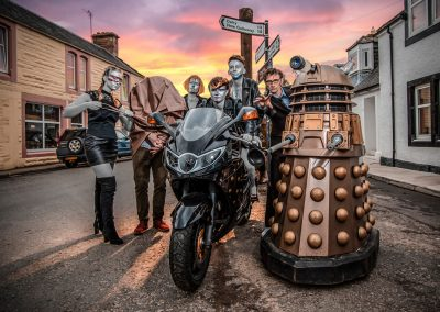 Dr Who and the Androids of the Moniaive Comic Festival